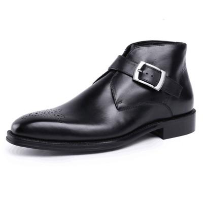 Black dress boots for men for jeans