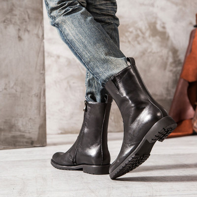 Cool fashion leather boots for men