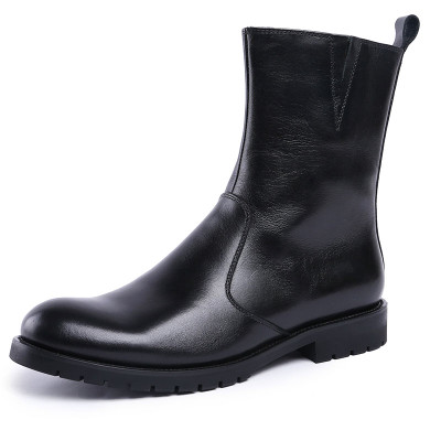 Black cool ankle boots for men
