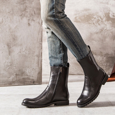 Cool genuine leather boots for men