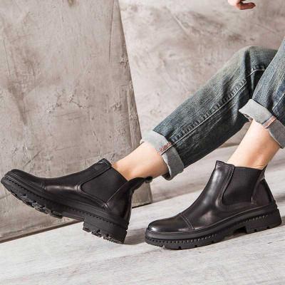 Men Chelsea boots for jeans