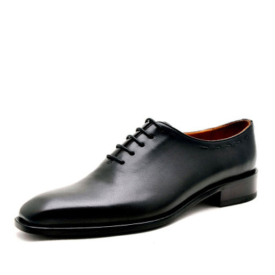 Customized goodyear retro men Derby shoes genuine leather