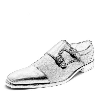 Mens Leather Monk Strap Shoes