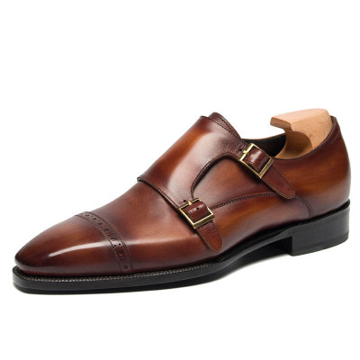 Mens Red Leather Dress Shoes