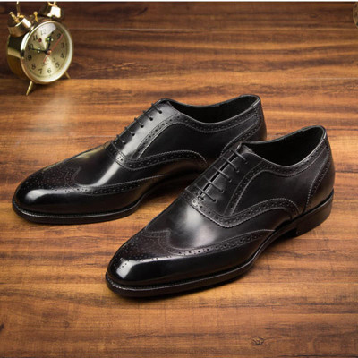 Italian Customized Wingtip Mens Oxford Shoes Genuine Leather