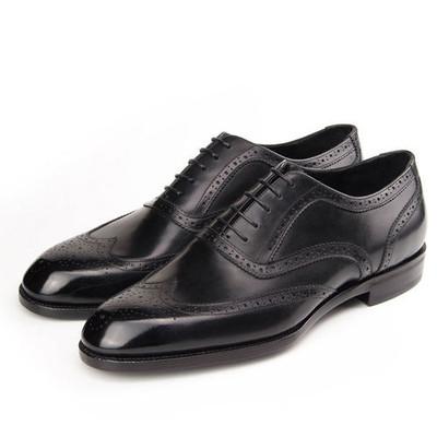 e4bd28c31c19b Italian Customized Wingtip Mens Oxford Shoes Genuine Leather