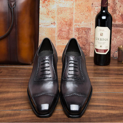 Italian Designer Mens Dress Shoes Real Leather Comfortable