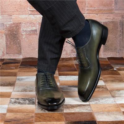 Italian Classic Men Dress Shoes Genuine Leather