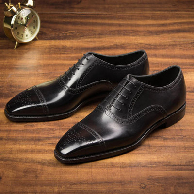 Customized Goodyear Men Business Formal Shoes Genuine Leather