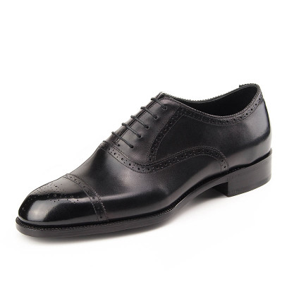 Luxury Black Dress Men Oxford Shoes Real Leather