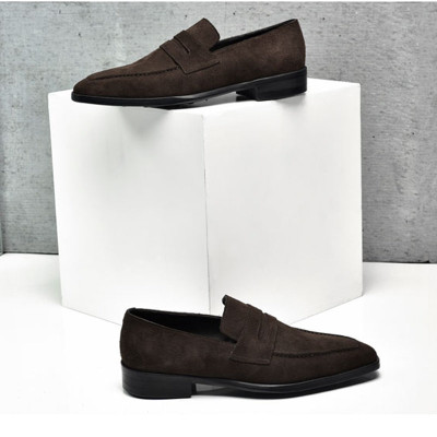 Fashion Slip On Mens  Loafers Suede Leather Office Shoes
