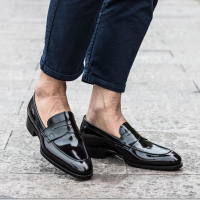 Italian Luxury Mens Dress Loafers Leather shoes