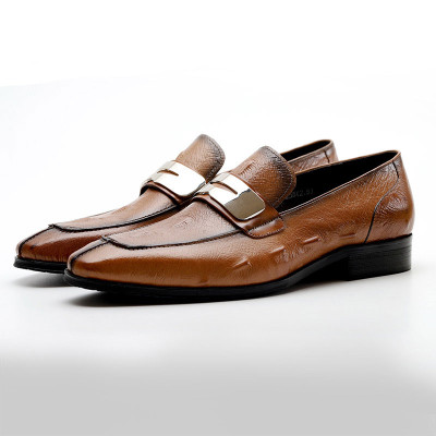 Comfortable Mens Casual Leather Loafers Dress Shoes