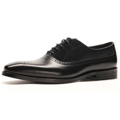 Mens suede dress shoes black
