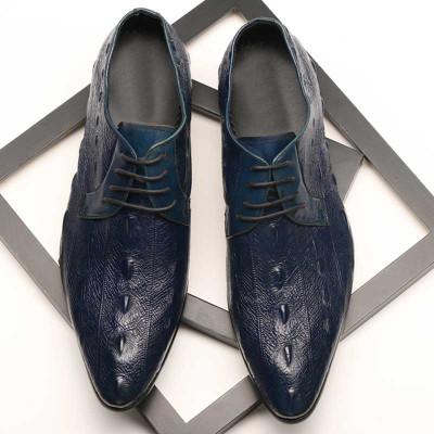 Mens blue leather shoes
