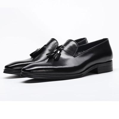 Mens slip on loafers black