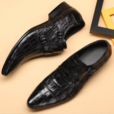 Mens buckle shoes black