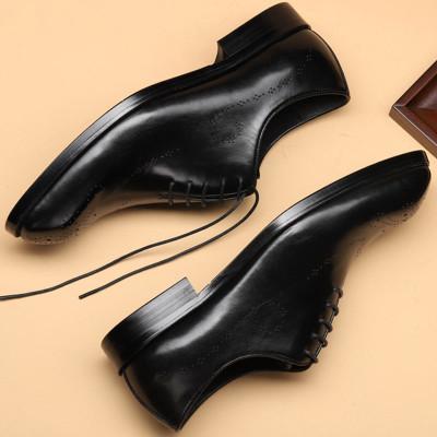 wholecut oxford shoes black