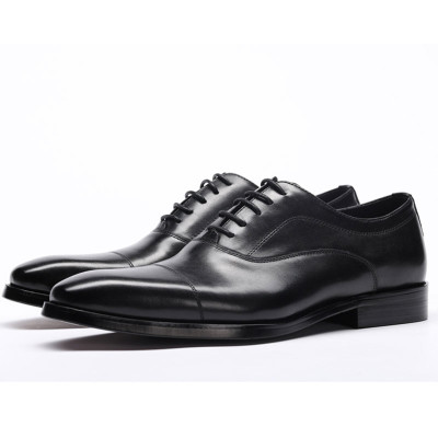 Mens leather oxford shoes black
