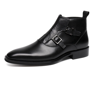 Extra Save $60 Cupon Code: CNEW50  Black Men Luxury Boots  Size: 7