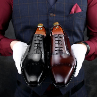 Extra Save $60 Cupon Code: CNEW50 Brown Men Smart Dress Shoes Size:8