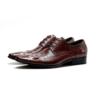 Mens Wedding Shoes.Luxury Mens Dress Shoes Genuine Leather For Wedding