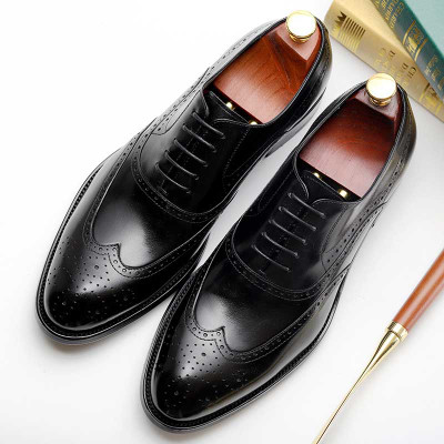 Mens Lace Up Brogue Oxford Dress Shoes