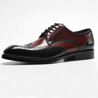 Mens Unique Wingtip Brugue Shoes
