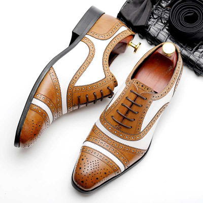 Mens British Oxford leather Shoes