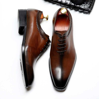 Mens Leather Oxfords Shoes For Wedding
