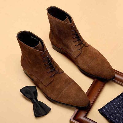 suede dress boots mens