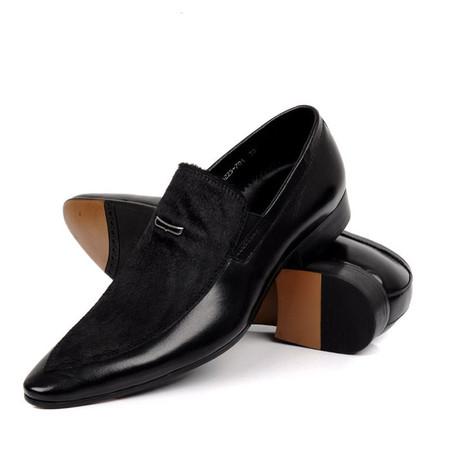 Mens Black Dress Shoes | Mens Slip on