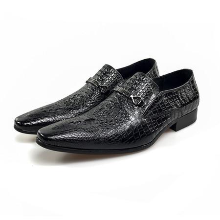 Mens Wedding Shoes.Grimentin Vintage Mens Wedding Shoes Online Genuine Leather Black