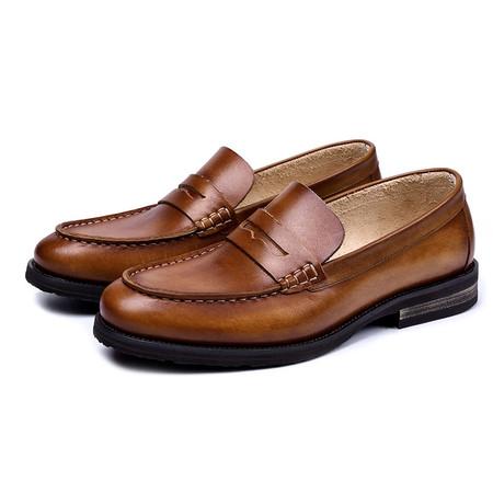 0dc7e3afa5913 Mens elegant genuine leather penny loafers shoes