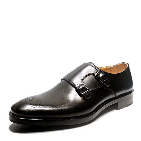 Mens Double Monk Shoes  Designer Mens