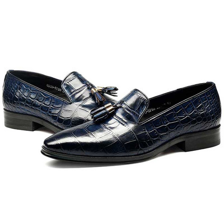 Blue Wedding Shoes.Fashion Men Tassel Blue Wedding Loafers Shoes