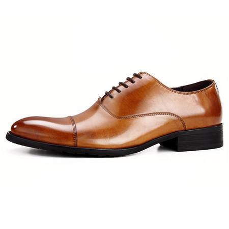 Mens classic cap toe dress shoes