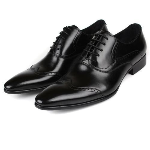 mens black brogue shoes sale