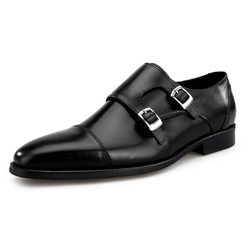 Monk strap dress shoes for men