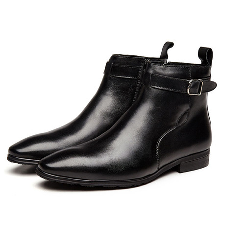 Leather boots for men for jeans
