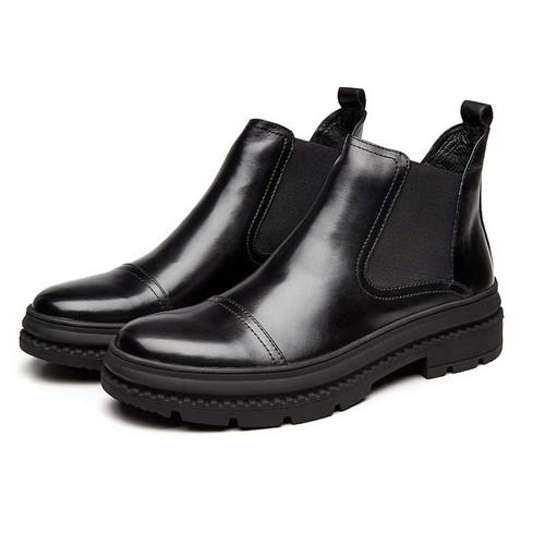 Black Chelsea boots for men