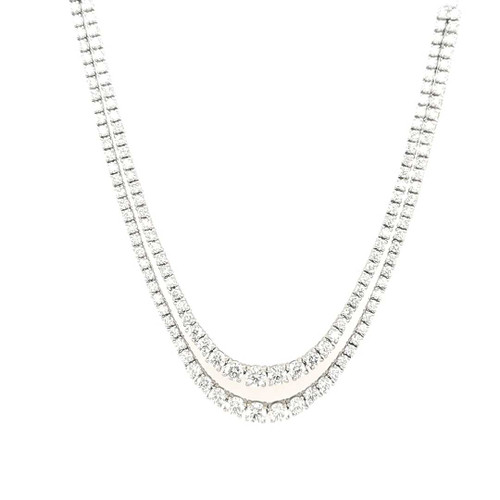 18ct White Gold 7.80ct Diamond Necklace diamond ring engagement ring belfast wedding ring eternity ring diamond jewellery