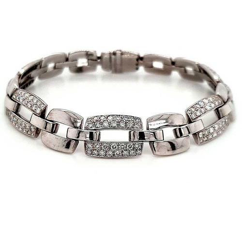 18ct White Gold 3.00ct Diamond Bracelet diamond ring engagement ring belfast wedding ring eternity ring diamond jewellery