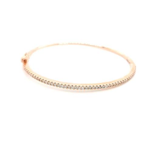 14ct Rose Gold 0.90ct Diamond Bangle diamond ring engagement ring belfast wedding ring eternity ring diamond jewellery