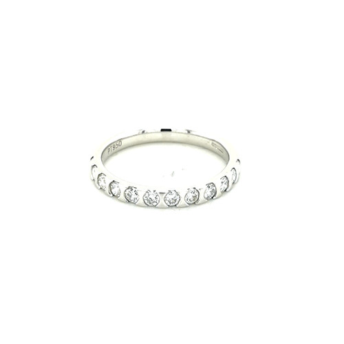Platinum 0.50ct Bar Set Diamond Ring physical Eternity Rings Murray & Co.