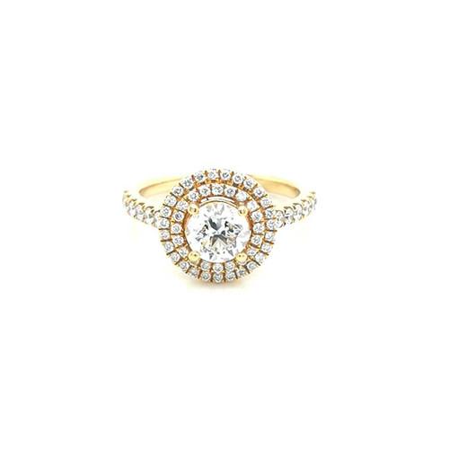 18ct Yellow Gold 1.45ct Double Halo Diamond Cluster Ring diamond ring engagement ring belfast wedding ring eternity ring diamond jewellery
