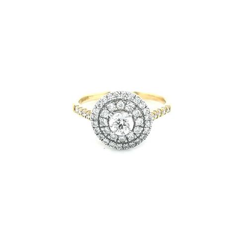 18ct Yellow Gold 0.90ct Diamond Cluster Ring diamond ring engagement ring belfast wedding ring eternity ring diamond jewellery