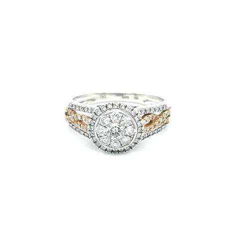 18ct Rose Gold 0.90ct Diamond Cluster Ring diamond ring engagement ring belfast wedding ring eternity ring diamond jewellery