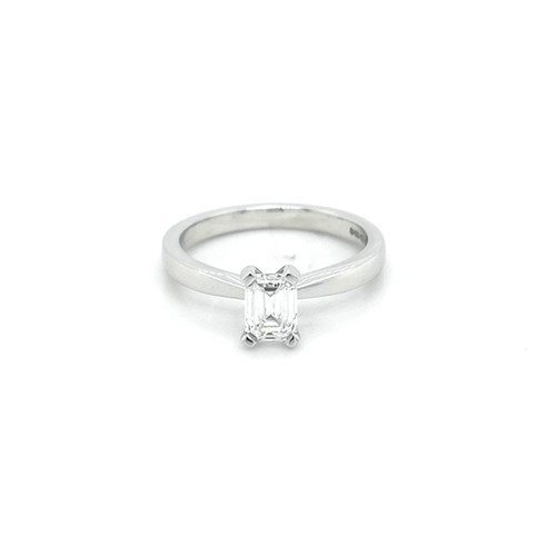 Platinum 0.70ct Emerald Cut Solitaire diamond ring engagement ring belfast wedding ring eternity ring diamond jewellery