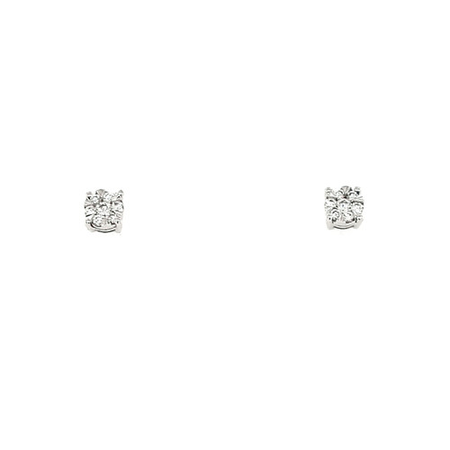18ct White Gold 0.13ct Diamond Stud Earrings
